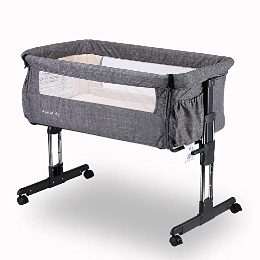 Amazon.com   Mika Micky Bedside Sleeper Easy Folding Portable Crib ... 7794ccd2f
