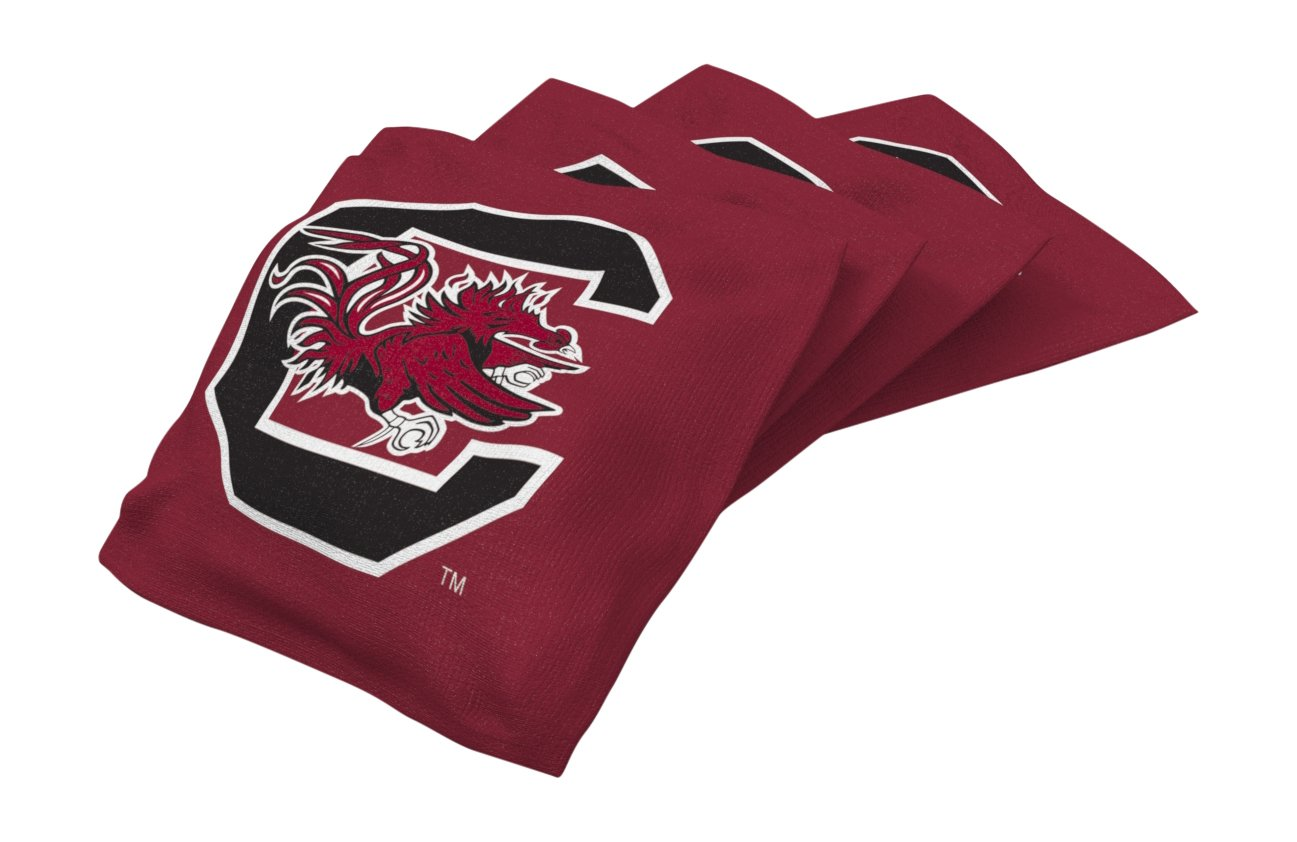 Wild Sports NCAA College South Carolina Fighting Gamecocks Red Authentic Cornhole Bean Bag Set (4 Pack)