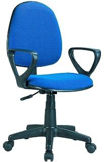 Adec - Silla escritorio giratoria despacho o estudio Danfer, medidas 61x55x109 cm, color Azul