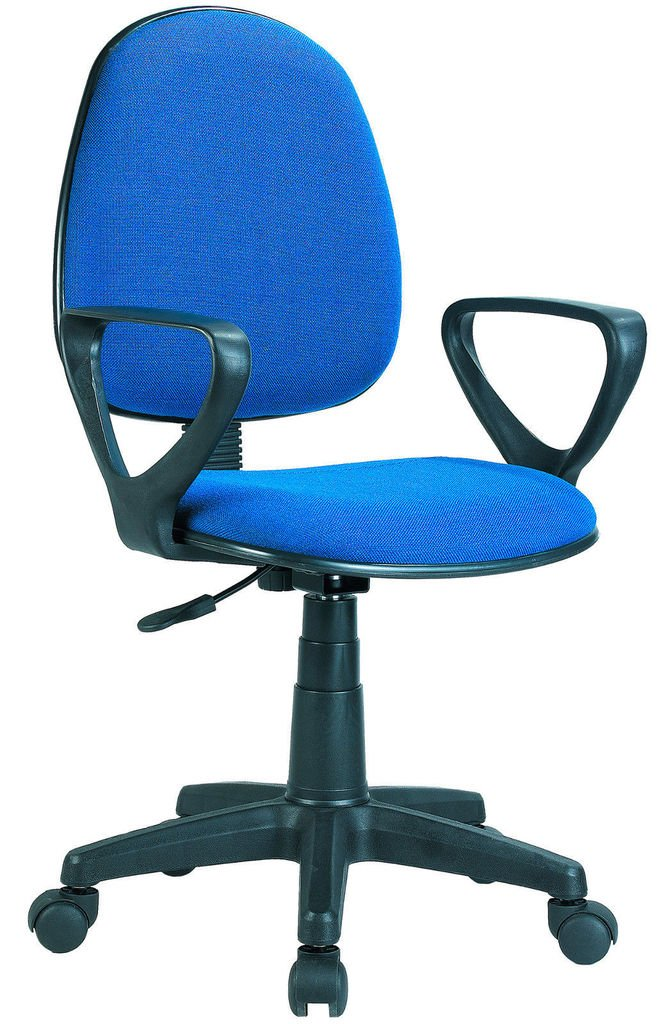 Silla p compu c descansabrazos azul for Sillas oficina amazon
