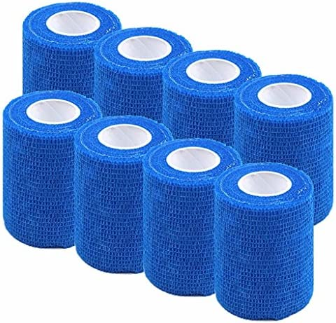 Mcree Pack of 8 Non-Woven Self Adhesive Wrap Bandages Strong Elastic Self Adherent Cohesive Tape Bandages Rolls