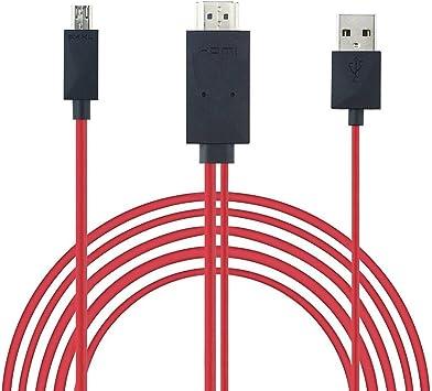 REY Cable MHL Micro USB a HDMI y USB, HDTV, del Móvil a la TV de Alta Definición: Amazon.es: Electrónica