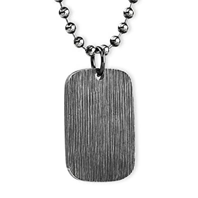 Collar//Cadena para hombres y mujeres de Acero inoxidable titanio Oro negro 3 5mm