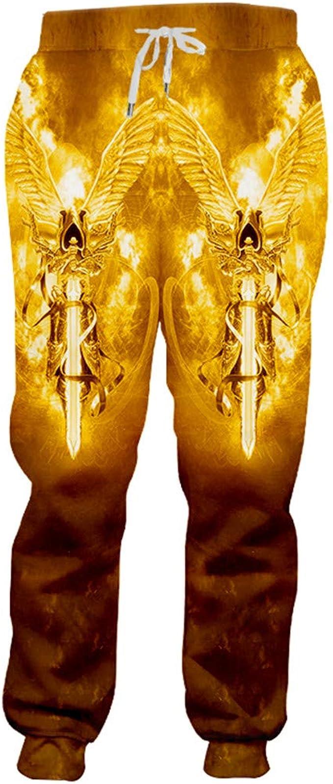 SenTenos Hombre 3D Street Style Naranja Pantalones de chándal ...