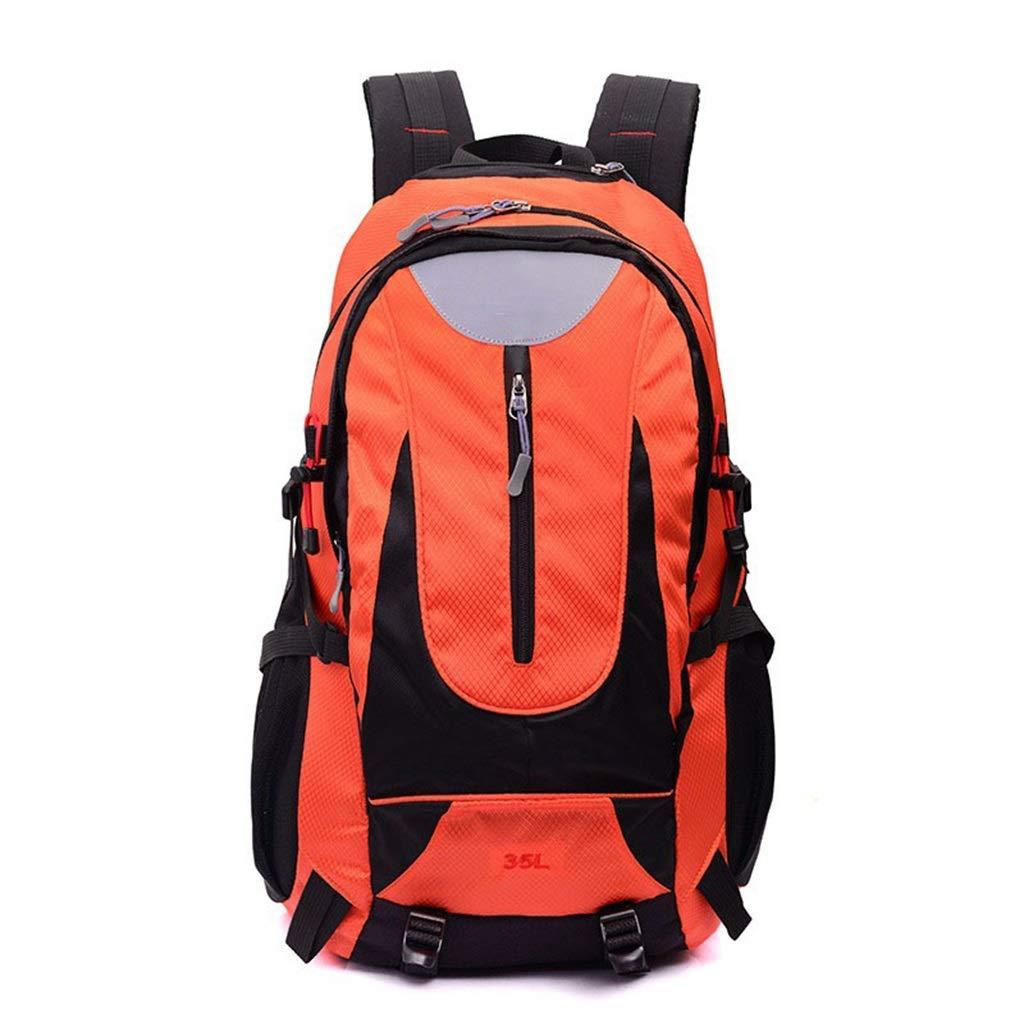 CGF- 内部フレームバックパック 35L ハイキングバックパック キャンピングデイパック 防水 ウェアラブル 多機能 アウトドア 登山 旅行 キャンプバッグ オレンジ CGF- Internal Frame Backpacks  オレンジ B07NKQB39L