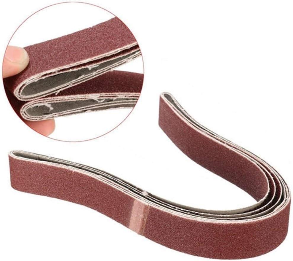 Rotating Accessori Strumento Foratura Seghe Rettifica 25x760mm 100 Grit nastri abrasivi 3pcs utensile abrasivo