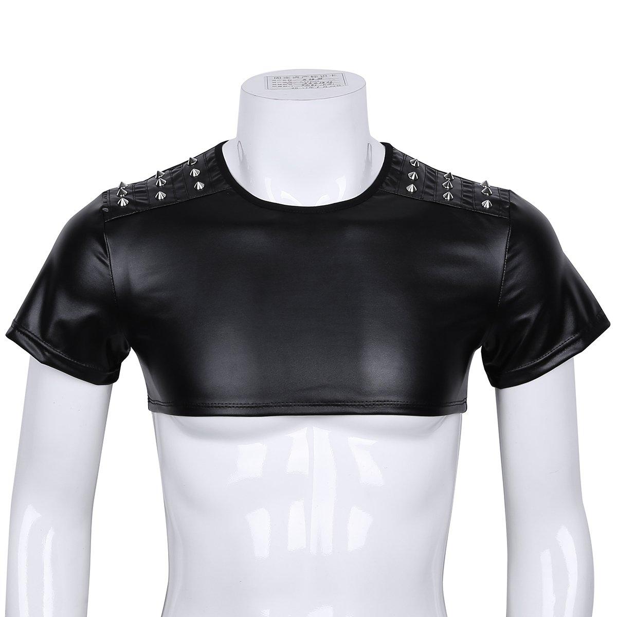 99ddee43770b iiniim Herren Shirt Wetlook Tank Top Kurze Shirt Weste Unterhemd Muskelshirt  Party Clubwear Schwarz M-XXL  Amazon.de  Bekleidung