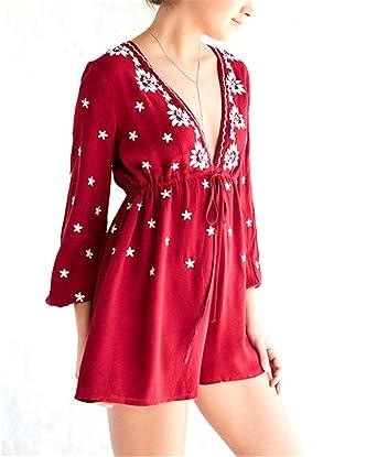 DaveDu NEW frete grátis estilo ocidental profundo decote em v mini vestidos curtos outono padrão de