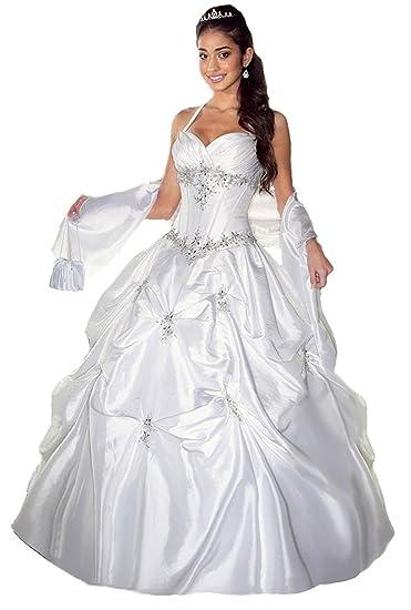 Lemandy Robe De Mariée Princesse Sans Traine Amazonfr