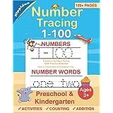 Number Tracing book for Preschoolers: Preschool Numbers Tracing Math Practice Workbook: Math Activity Book for Pre K, Kinderg