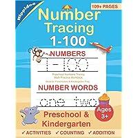 Number Tracing book for Preschoolers: Preschool Numbers Tracing Math Practice Workbook: Math Activity Book for Pre K…
