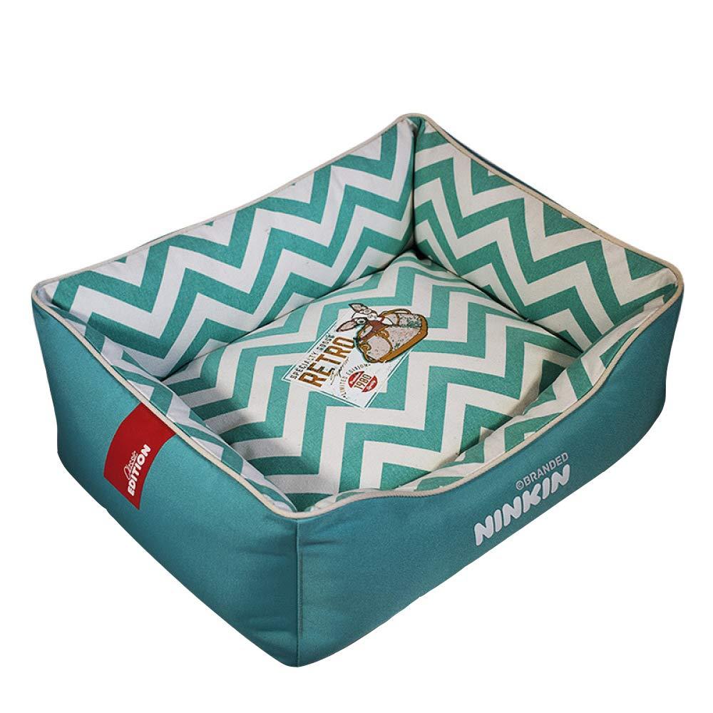 A Small A Small QJKai Fashion pet nest pad kennel canvas lined square nest cat litter pet supplies