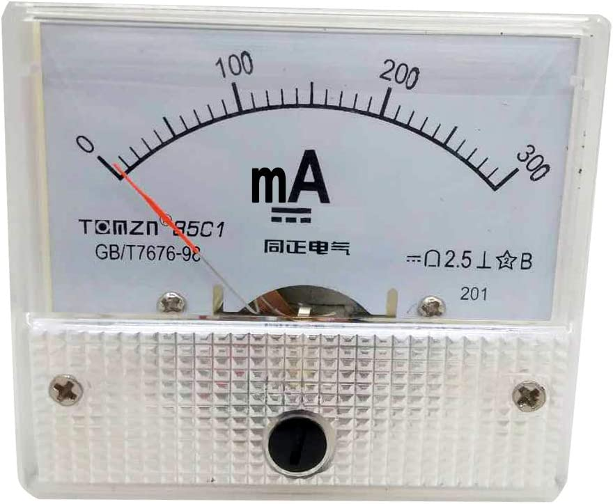 DC 200mA YXQ 0-200mA Analog Current Panel 85C1-mA Amp Ammeter Gauge Meter 2.5 Accuracy for Auto Circuit Measurement Tester