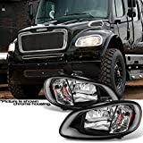 For [Black] 2004-2012 Freightliner Business Class M2 | 2003-2013 M2 106 Headlights Left & Right Pair Set