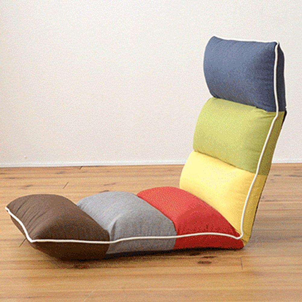 ZEMIN Pliable paresseux canapé-lit dossier coussin chaise étage multifonction unique taie d'oreiller baie vitrée