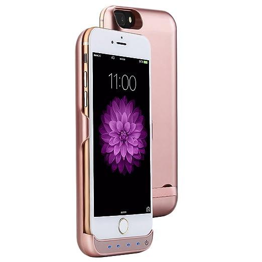 4 opinioni per Mondpalast@ Oro Rosa Custodia con Batteria integrata da 8000 mAh per Apple