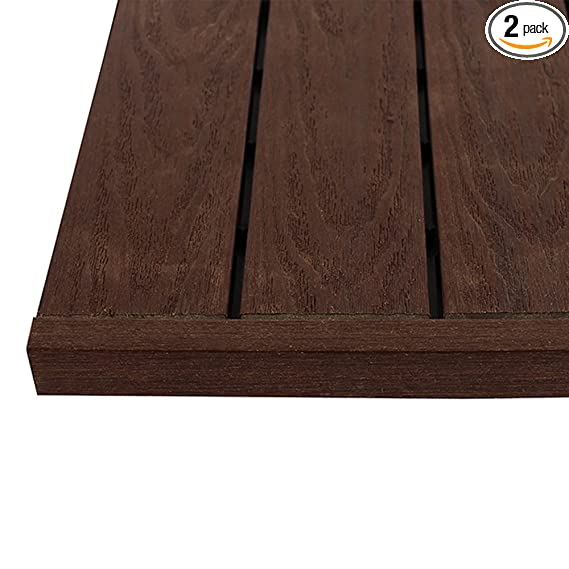 New Tech Wood Us Qd St Zx Rw 1/6 X 1 Ft. Quick Composite Deck Tile Straight End Corner Fascia In California Redwood (4 Pieces/Box) by New Tech Wood
