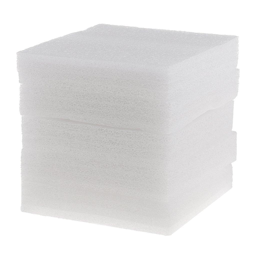 MonkeyJack 5 Pieces White Foam Needle Felting Pad Mat Wool Felt Accessories Sewing Crafts Tool - 12x12mm