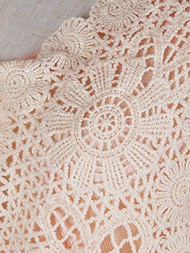due vestito Rosa chiaro Kaci Anna donne fiore all'uncinetto a a maglia cover del d'epoca 1920 Gastby maniche increspato pizzi pezzi up IxAHAqR7