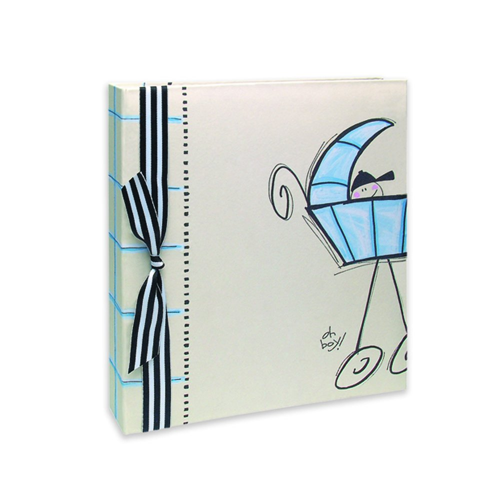 Oh Boy in a Carriage Baby Book Memory Album - Adorable Shower Gift! Keepsake Collection by Penny Laine Papers
