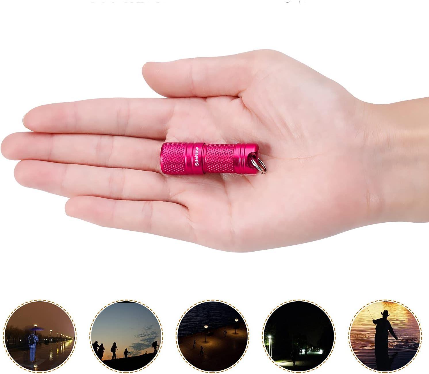 Mini Flashlight Keychain with Micro USB Rechargeable Tiny Flashlight,150 Lumen U