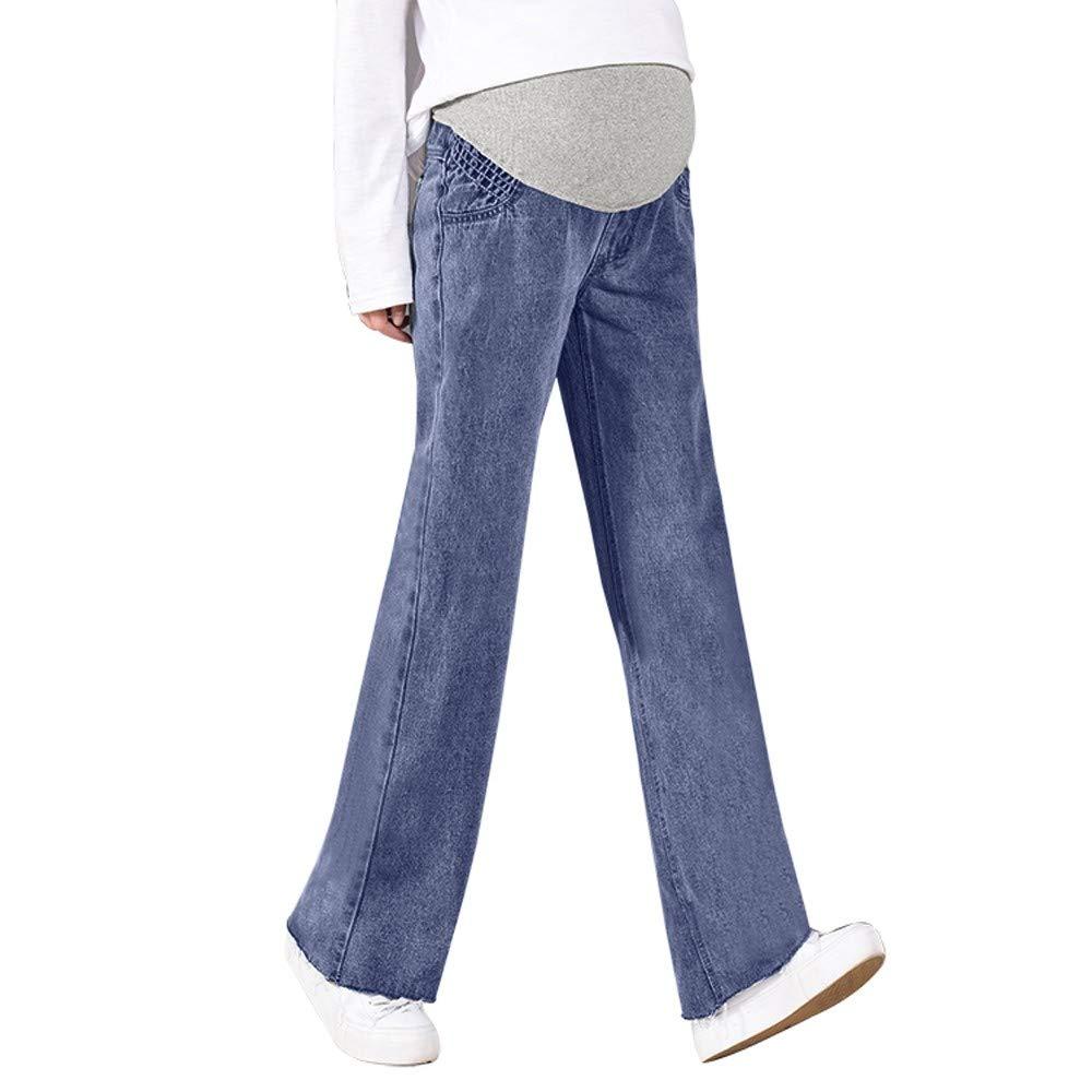 STRIR New Premamá Vaqueros Leggings Denim Pantalones cinturón para ...