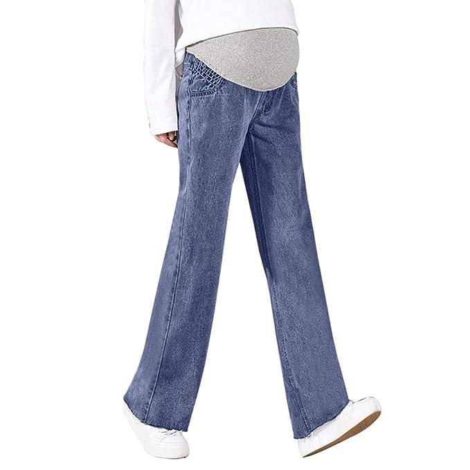 96e61b93f STRIR New Premamá Vaqueros Leggings Denim Pantalones cinturón para Barriga  para Mujer Vintage Jeans de Maternidad