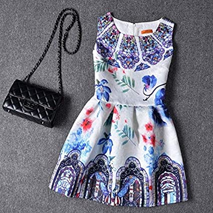 1b57f777bd Sleeveless Mother Daughter Dress Party Outfits Summer Mommy and Me Clothes  Matching Family Look Clothing Mom Girls Dresses Women : Style Two, ...
