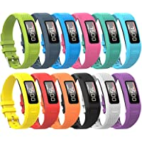 Garmin Vivofit 2 Buckle Bracelet - Adjustable Wristband and Wristwatch Style - Silicone Replacement Secure Band with Chrome Watch Clasp and Fastener Buckle for Garmin Vivofit 2