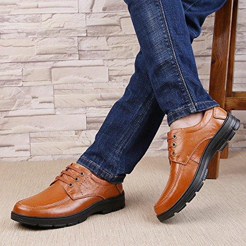 Abby Qzyyu-1809 Heren Vrijetijdsbesteding Formele Gelegenheden Mocassins Bussiness Comfortabele Bootschoenen Slippers Lichtgewicht Penny Loafers Ademend Buitenshuis Lace Up Roodbruin