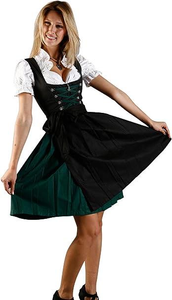 Amazon.com: Vestido bávaro Midi Dirndl de 3 piezas ...