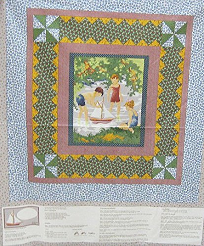 Thimbleberries RJR Cover Story Boys in Summer Quilt Panel Cotton Fabric BFRJR ##bostonfabricstash
