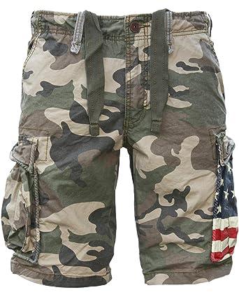0e77f65a21 JET LAG Cargo Shorts camouflage USA YC 22: Amazon.co.uk: Clothing