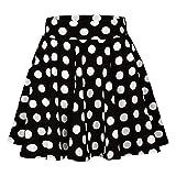 Kingspinner Women's High Waist Candy Colors Skirt