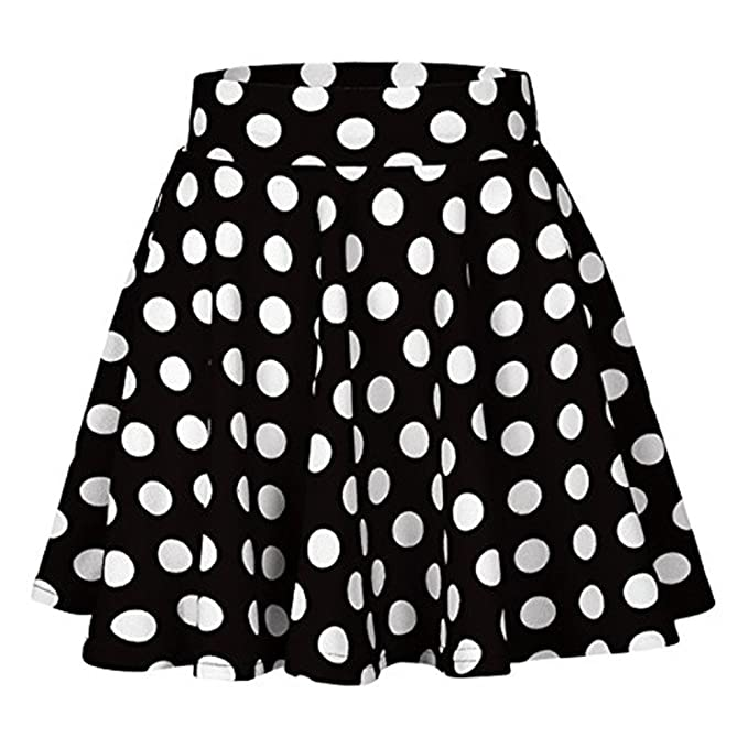 Princess Skirt para Mujer Briskorry Falda con Estampado Casuales de Lunares Moda Faldas Mini Alta Cinturilla Dress Cortas Uniforme: Amazon.es: Ropa y ...