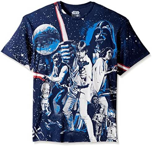 Star Wars Men's Darth Vader, Luke Skywalker, Leia T-Shirt