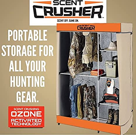 Amazon.com : Scent Crusher Flexible Hunter Closet With Ozone Generator,  Destroys Odors Within 30 Mins., Great For Storage In Basements, Garages U0026  Hunting ...