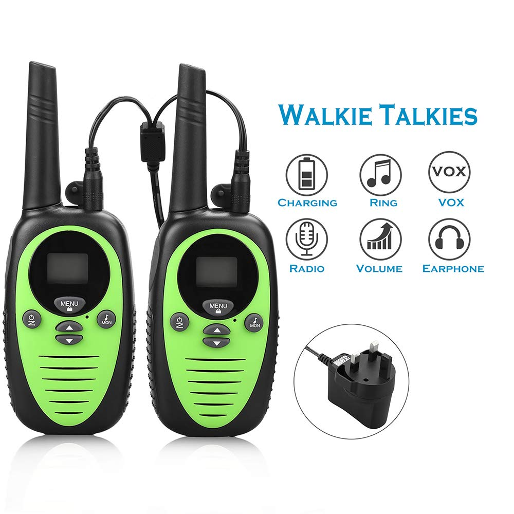DJG Rechargeable Remote Two-Way Radio Walkie-Talkie Handheld 0.5w Children's Toy Walkie-Talkie (2 Packs) by DJG (Image #6)