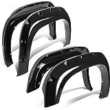 """For GMC Sierra 1500 Pocket-Riveted Fleetside 69.3"""" Bed Side Fender Wheel Flares (Black)"""