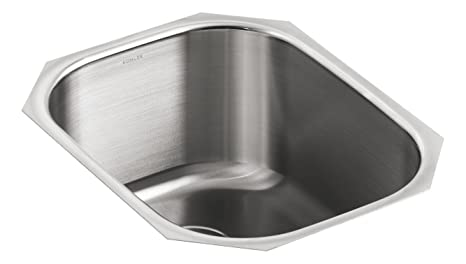 KOHLER K-3164-NA Undertone Rounded Single-Basin Undercounter Kitchen Sink,  Stainless Steel