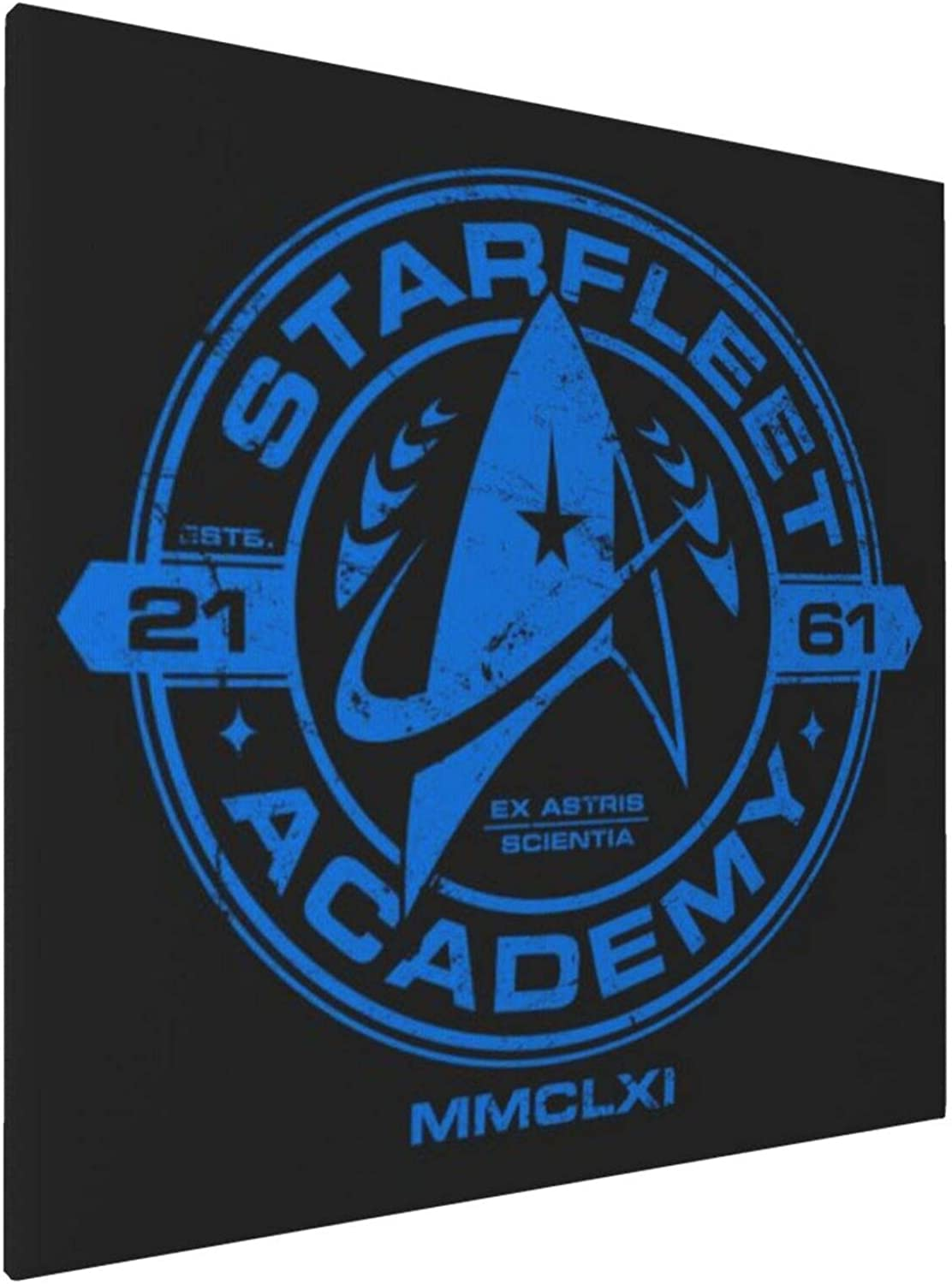 1045 Canvas Prints Wall Art Paintings(20x20in) Starfleet Academy Star Trek Blue Pictures Home Office Decor Framed Posters & Prints