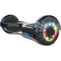 COLORWAY 6.5'' Patinete Monopatín Eléctrico Scooter Auto-Equilibrio con CE Certificado, Bluetooth y Colorido LED