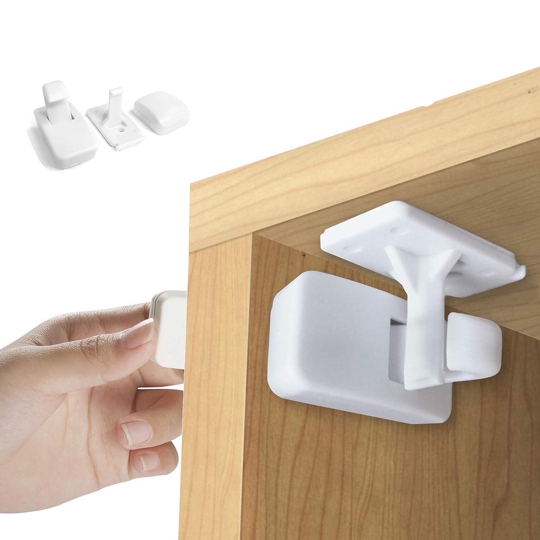 8er Set  Magnetische Kindersicherung Schubladen Schrank Unsichtbar Baby Schutz