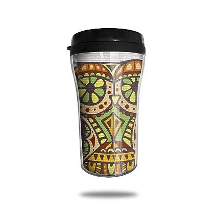 3ad88210e40 FTRGRAFE Owl Decorative Pattern Travel Coffee Mug 3D Printed Portable  Vacuum Cup,Insulated Tea Cup