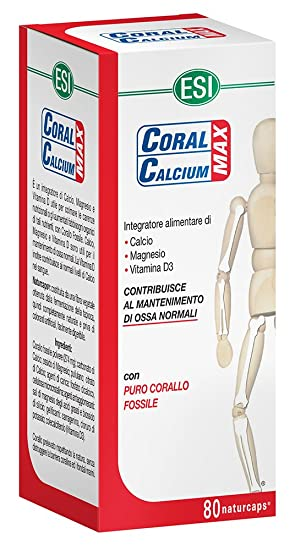 ESI Coral Calcium Max Complemento Alimenticio - 80 Cápsulas: Amazon.es: Salud y cuidado personal