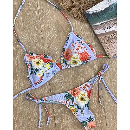 Sexy Nuoto Suit Donna Swimsuit Spiaggia Impostato Kootk Costume Da Costumi Top Slip Bagnarsi Floral Bagno Pezzo E Tankini Bikini Due S qFdwC6