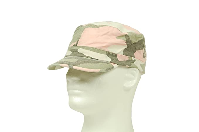 33c9f7f54aebab Image Unavailable. Image not available for. Color: Womens Military Hat - Vintage  RipStop Fatigue Cap Pink Camo Adjustable ...