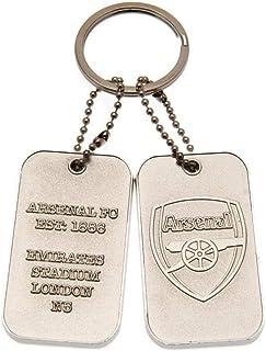 Arsenal FC Dog Tag Keyring (One Size) (Silver)