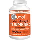 Turmeric Curcumin Capsules, Qunol with Ultra High Absorption 1000mg, Joint Support, Dietary Supplement, Extra Strength, 120 V