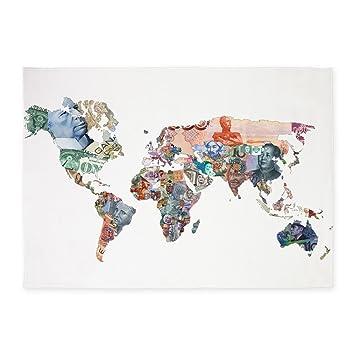 Amazon.com: CafePress – Mapa Mundial de moneda dinero Fiat ...
